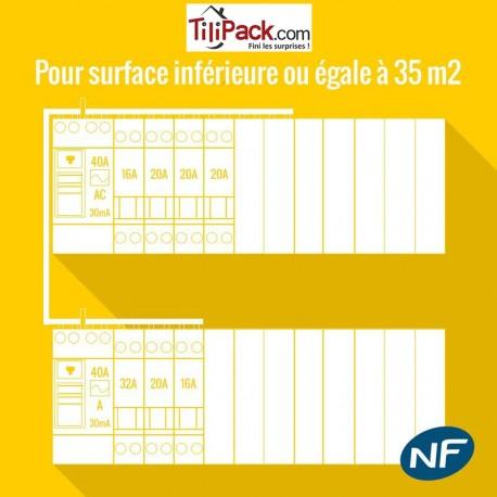 Tableau lectrique legrand jusqu 39 35 m2 prix fourni pos for Tableau electrique pour maison 150 m2