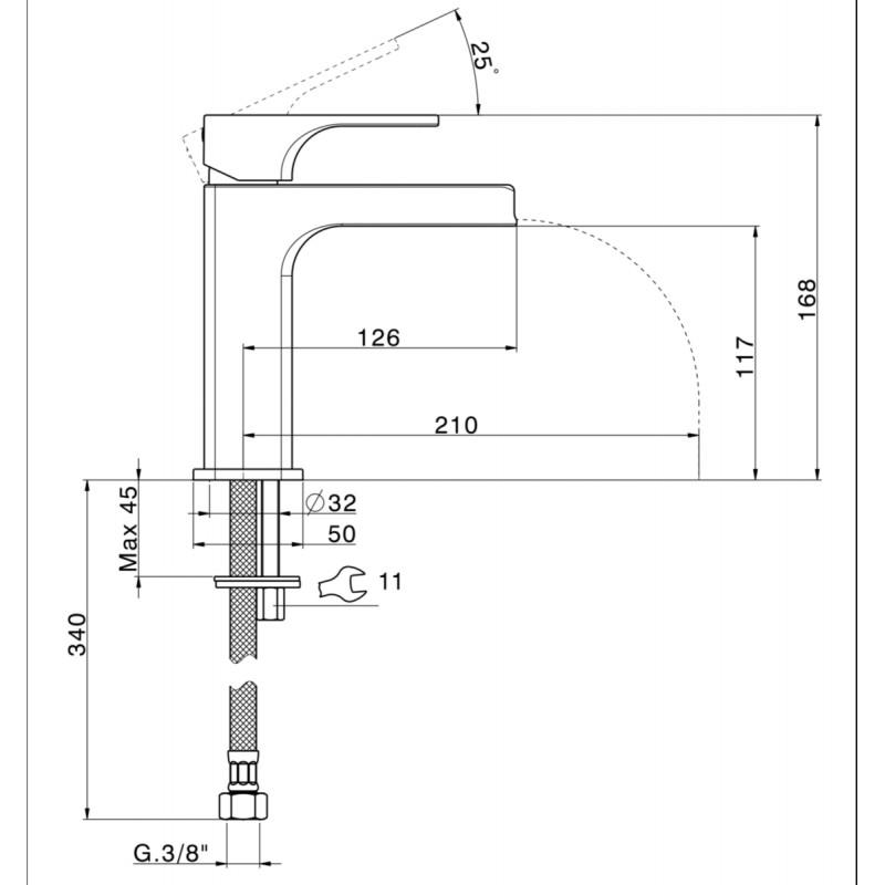 robinet mitigeur lavabo cascade 3 alterna livr et. Black Bedroom Furniture Sets. Home Design Ideas