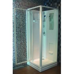 Cabine de douche Alterna Concerto 80 x 80 accès de face porte pivotante