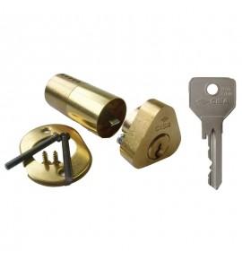 Cylindre de serrure double entrée Cisa - Profil rond