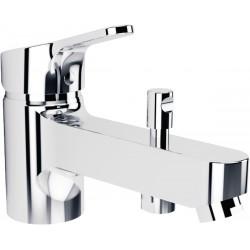 Robinet bain-douche mitigeur monotrou chrome Porcher Olyos C2 sans ensemble douche