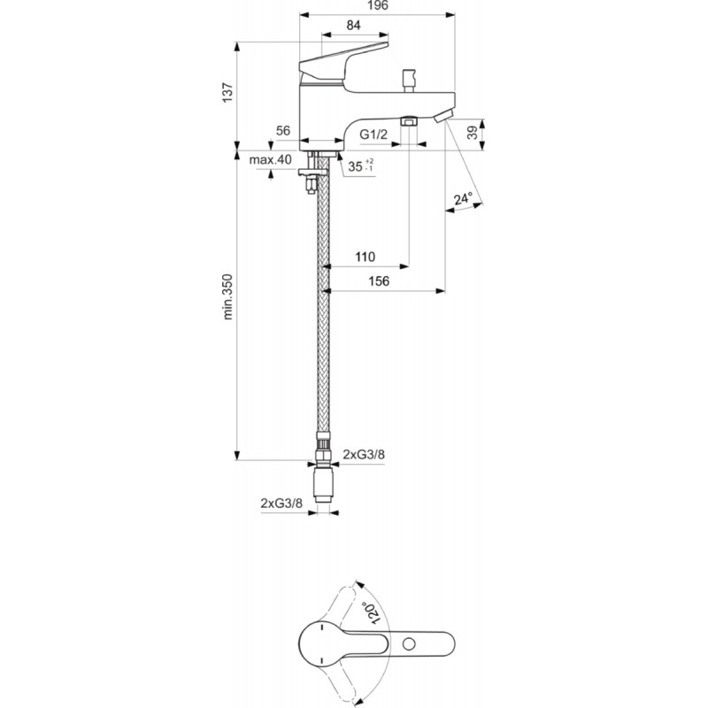 Robinet monotrou mitigeur bain douche porcher olyos c2 for Bain et douche ensemble