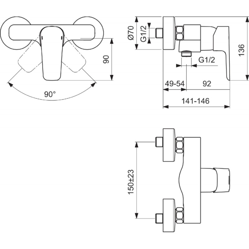 robinet douche ideal standard kheops livr et install. Black Bedroom Furniture Sets. Home Design Ideas