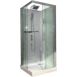 Cabine de douche complète Alterna Domino 90 x 90 carrée version confort