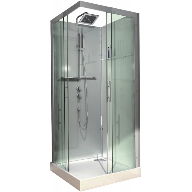 Cabine De Douche Alterna Domino 90 X 90 Carree Version Confort Livree Et Installee
