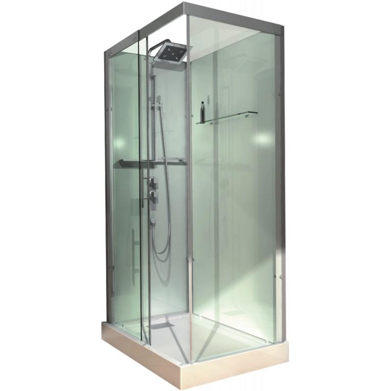 Cabine de douche alterna domino 110 x 80 rectangulaire - Cabine de douche rectangulaire 110 x 80 ...