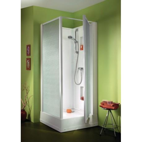 Cabine de douche LEDA IZIBOX carrée 70 x 70 Carrée tout équipée