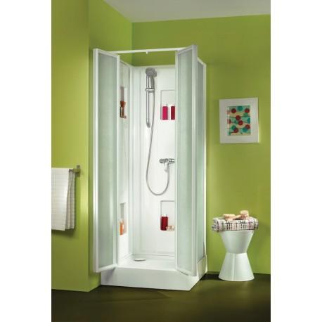 Cabine de douche LEDA IZIBOX carrée 80 x 80 Carrée tout équipée
