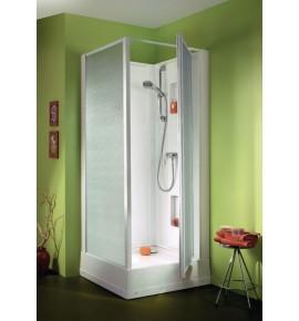 Cabine de douche LEDA IZIBOX carrée 90 x 90 Carrée tout équipée