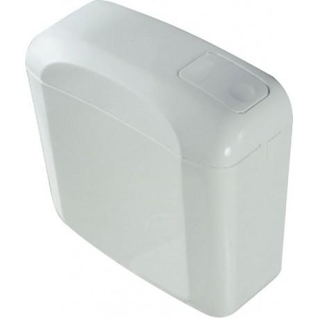 Réservoir blanc, double touche attenant, Garis, pour W.C.