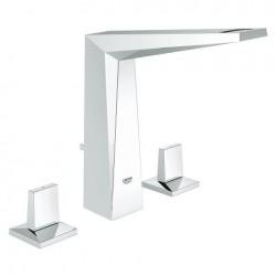 """Robinet lavabo Grohe Allure Brilliant Mélangeur 3 trous 1/2"""" taille M"""