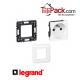 Prise simple Legrand Mozaic 2P+T - Appareillage complet Blanc encastré à vis