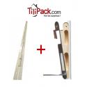 Barre de pivot en fer plat 30x30 mm blanche + Création d'une gâche sur le bâti de la porte