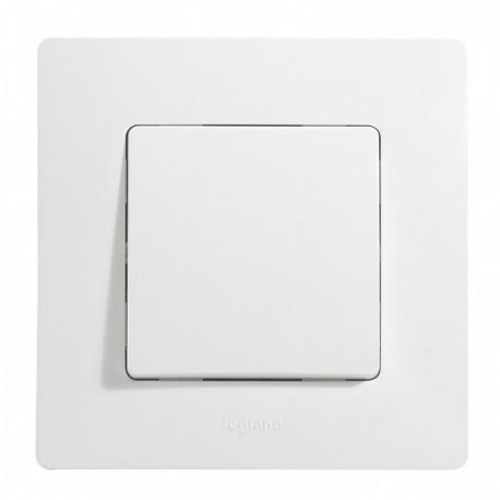 Interrupteur va-et-vient Legrand Niloé - Appareillage complet Blanc encastré
