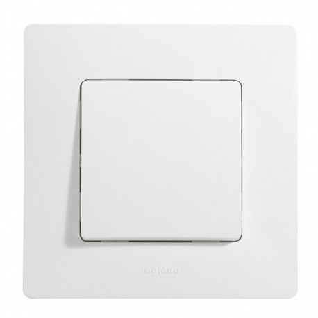 Interrupteur poussoir Legrand Niloé - Appareillage complet Blanc encastré