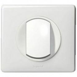 Interrupteur poussoir Legrand Céliane - Appareillage complet Blanc encastré