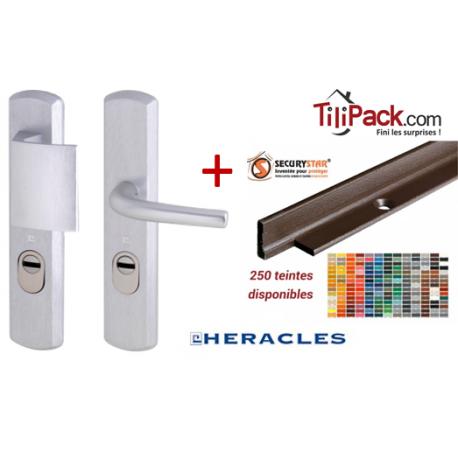 Pack sécurité : Poignée Blindée Héraclès + Cornières anti-pinces avec couleur aux choix