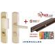Pack sécurité : Poignée Blindée Héraclès - Chamapgne + cornières anti-pinces avec couleur au choix