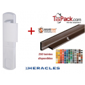 Poignée de protection magnétique, Héraclès Salomé™ - Argent + Cornières anti-pinces avec couleur au choix