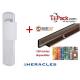 Pack sécurité : Poignée de protection magnétique, Héraclès Salomé™ - Argent + Cornières anti-pinces avec couleur aux choix