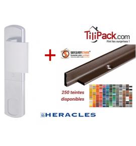 Pack sécurité : Poignée de protection magnétique, Héraclès Salomé™ - Argent + Cornières anti-pinces avec couleur au choix