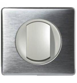 Interrupteur poussoir Legrand Céliane - Appareillage complet Anodisé Alu encastré