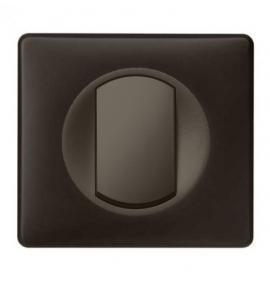 Interrupteur poussoir Legrand Céliane - Appareillage complet Poudré Basalte encastré