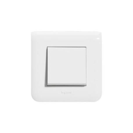Interrupteur poussoir Legrand Mosaic - Appareillage complet Blanc encastré