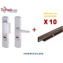 Pack COPRO - 10 packs sécurité : Poignées Blindées Héraclès - Argent + Cornières anti-pinces