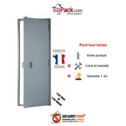 Porte de cave, Securystar Eco 1, A2P BP1, Serrure 3 points A2P*