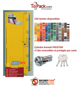 Porte blindée A2P BP3, Securystar L'Original, Serrure 7 points haut et bas, isolation acoustique
