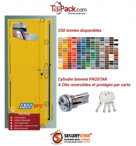 Porte blindée A2P BP2, Securystar L'Original, Serrure 5 points haut et bas, isolation acoustique