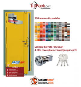 Porte blindée A2P BP1, Securystar L'Original, Serrure 3 points haut et bas, isolation acoustique