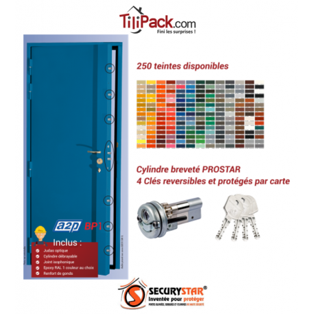 Blindage de porte A2P BP1, Securystar Le Citadin 1 Serrure en applique 5 points