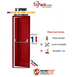 Porte issue de secours, Securystar Sprint, Serrure anti-panique 3 points