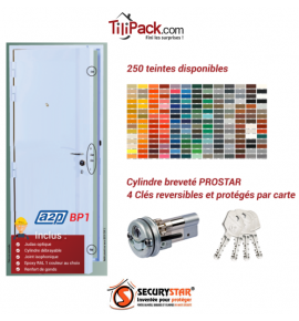 Porte blindée A2P BP1, Securystar Super Star - Serrure carénée 3 points