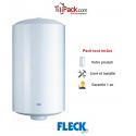 Chauffe-eau électrique 100L Fleck vertical 530 HPC Stéatite