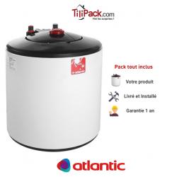 Chauffe-eau électrique 15l sur évier Atlantic Compact blindé