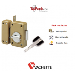 Verrou de sûreté à bouton Vachette Radial NT - Cylindre de 45 mm