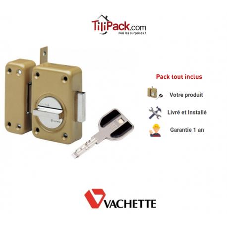 Verrou de sureté à bouton Vachette Radial NT - Cylindre de 45 mm