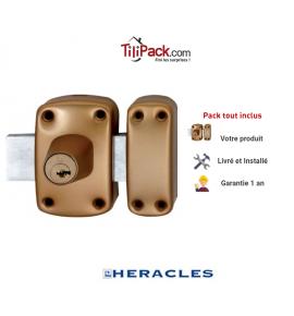 Verrou de sûreté à 2 entrées Héraclès Y8 - Cylindre de 45 mm