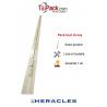 Barre de pivot en fer plat 30x30 mm blanche