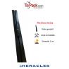 Barre de pivot en fer plat 30x30 mm gris brut