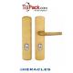 Pack sécurité : Poignée borgne Blindée Héraclès - Doré + cornières anti-pinces avec couleur au choix