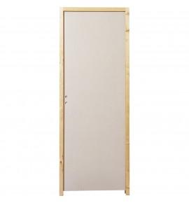 Porte intérieure en bois alvéolaire + paumelles en acier