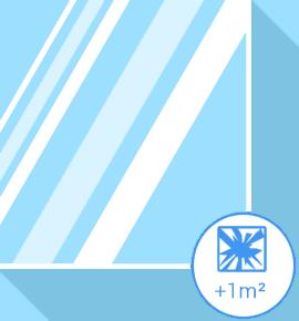 Vitrage cassé - simple vitrage +1m2