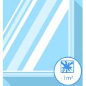Vitre cassée - verre feuilleté inférieur à 1m2