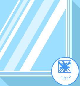 Vitrage cassé - verre feuilleté -1m2