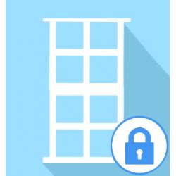Fermeture provisoire pour porte fenêtre