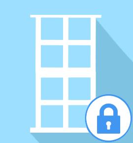 Fermeture provisoire - pour porte fenêtre